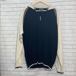 Bobby Chan Half Zip Silk Cotton Sweater Size XXL